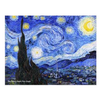 Den Starry natten av Vincent Van Gogh Vykort