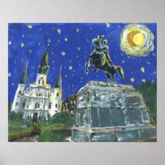 Den Starry natten Jackson kvadrerar Poster