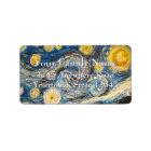 Den Starry natten målar om igen efter Vincent Van  Adressetikett