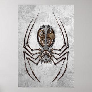 Den Steampunk spindeln på buse stålsätter Poster