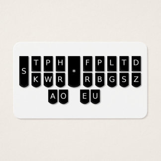 Den Steno för domstolreportersvarten maskinen Visitkort