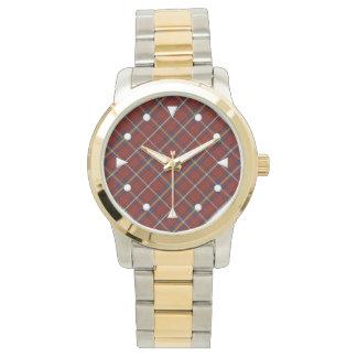 Den Stewart tartanen Två-tonar klockan Armbandsur