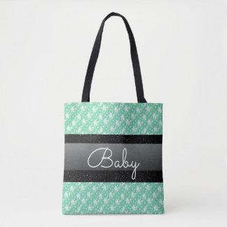 Den stilfulla babyen för för Mintgröntpolka dots Tygkasse