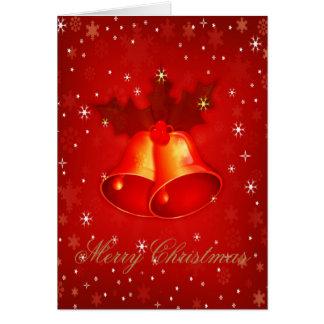 Den stilfulla julen sätta en klocka på elegant jul OBS kort