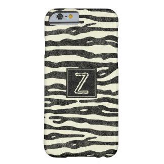 Den stilfulla zebra trycksvarten görar randig den barely there iPhone 6 fodral