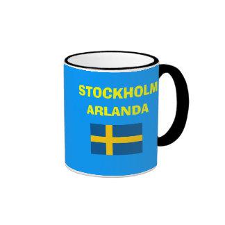 Den Stockholm* Arlanda flygplatsen kodifierar Ringer Mugg
