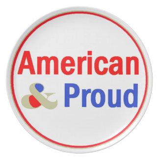 Den stolt amerikanen pläterar tallrik