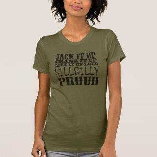 Den stolt bondlurken kvadrerar landkvartertext tee shirts