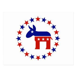 Den stolt demokraten cirklar stjärnor vykort