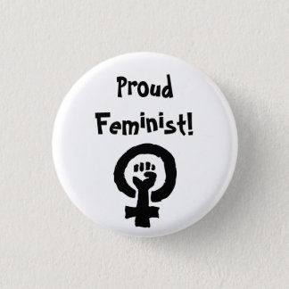 Den stolt feministen klämmer fast mini knapp rund 3.2 cm
