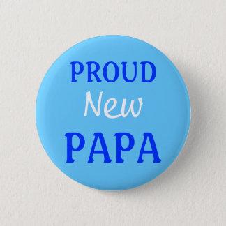Den stolt nya pappan klämmer fast/knäppas standard knapp rund 5.7 cm