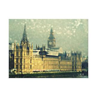 Den stora Ben för Elizabeth torn sträckta Canvastryck