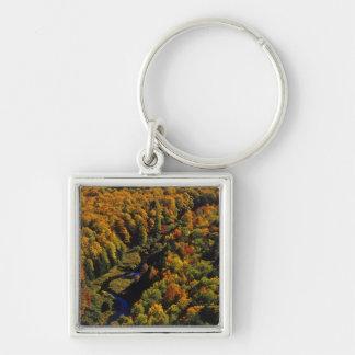 Den stora Carpfloden i höst på porcupinen Fyrkantig Silverfärgad Nyckelring