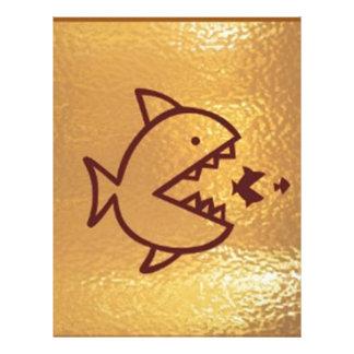 Den STORA fisken äter den SMÅ FISKEN Brevhuvud