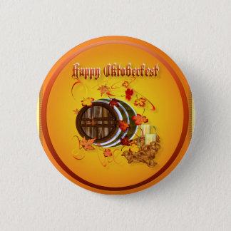 Den stora Öl-Lycklig oktoberfesten knäppas Standard Knapp Rund 5.7 Cm