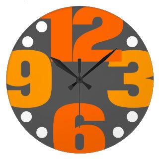 Den stora Time - orange Stor Klocka
