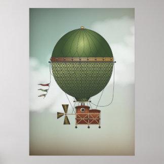 Den stormiga himmelairshipen Citronnier | Steampun Poster