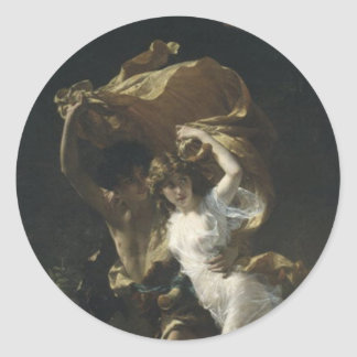 Den stormPierre-Auguste kåtan 1880 Runt Klistermärke