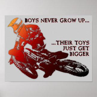 Den större affischen för Motocross för Poster