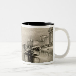 Den storslagna kanalen, Venedig som inristas av Två-Tonad Mugg