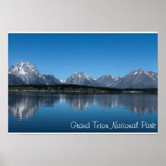 Den storslagna Teton nationen parkerar Poster