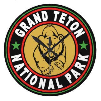 Den storslagna Teton svarten cirklar Stor Klocka