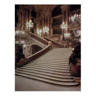Den storslagna trappuppgången av Operan-Garnier Vykort