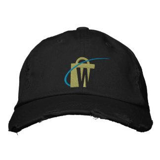 Den största broderade svart chinohatten för världa broderade baseball kepsar