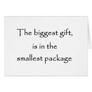 Den största gåvan är i de minsta paket-korten hälsningskort