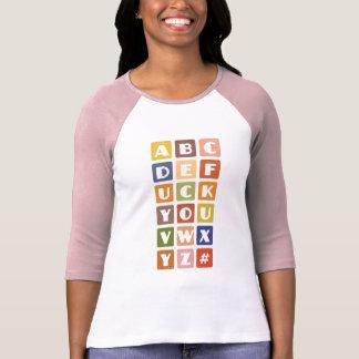 Den stygga alfabetskjortan - välj stil färga tee