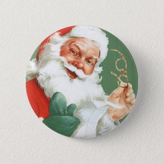 Den stygga eller trevliga Lista-Santa Claus julen Standard Knapp Rund 5.7 Cm