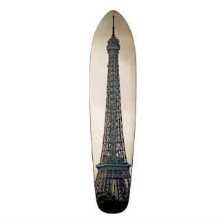 Den Stylized svarten & vit avbildar av det Eiffel  Mini Skateboard Bräda 18,7 Cm