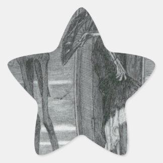 Den suveräna vicen vid Felicien Rops Stjärnformat Klistermärke