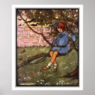 Den svängande lövruskan vid Florence Harrison Poster