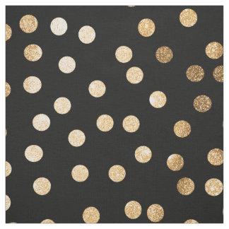 Den svart bläck- och guldstaden pricker tyg