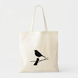 Den svart fågelSilhouettetotot hänger lös Tygkasse