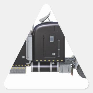 Den svart halva lastbilen med fulltljus i sida triangelformat klistermärke