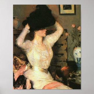 Den svart hatten vid franka Weston Benson konster Poster