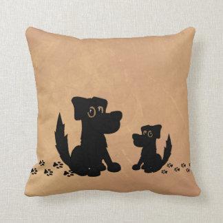 Den svart hunden och valpen går amerikanen Mojo Kudde