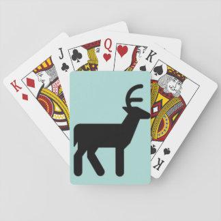 Den svart julen hjort, himmelblått färgar leka spel kort