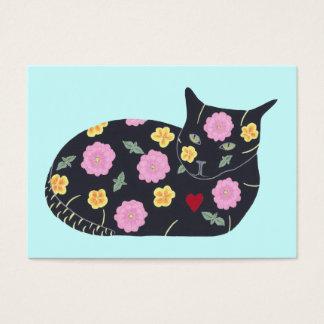 Den svart katten blommar växter som katter kan äta visitkort
