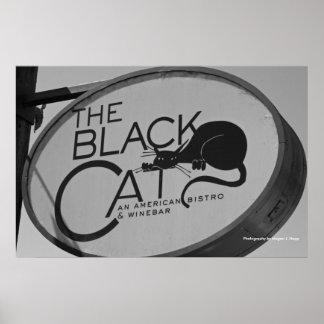 Den svart katten poster