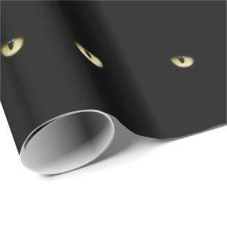 Den svart katten synar | Halloween Presentpapper