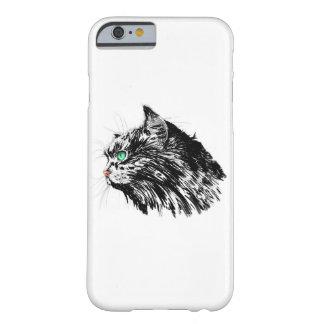 Den svart kattiPhonen 6/6s täcker Barely There iPhone 6 Fodral