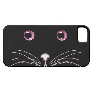 Den svart kattrosan synar Fodral-Kompisen fodral iPhone 5 Skydd