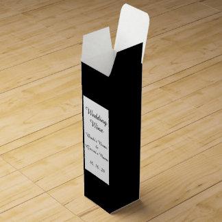 Den svart kicken avslutar kulört presentaskar för vinflaskor