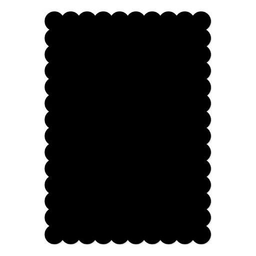 Den svart kicken avslutar kulört kort för inbjudningar