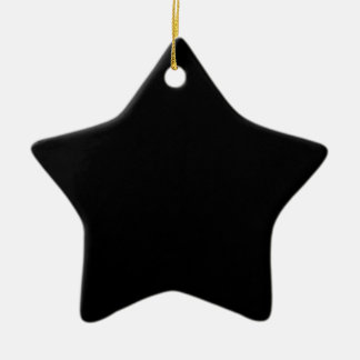 Den svart kicken avslutar kulört stjärnformad julgransprydnad i keramik
