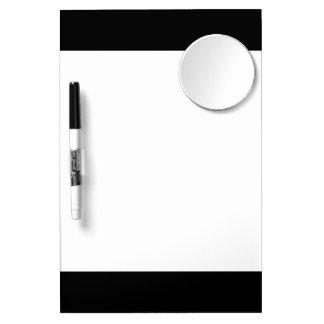 Den svart kicken avslutar kulört dry erase whiteboards