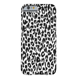 Den svart leoparden flår päls barely there iPhone 6 skal
